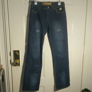 Size 8 straight leg Apple Bottoms women's jeans